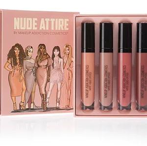 Makeup Addiction Cosmetics Nude Attire Collection lipsticks